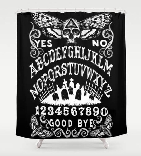Ouija with Death Moth Shower curtain