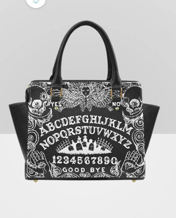 Ouija Board Black Shoulder Handbag