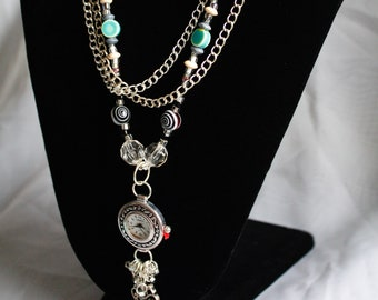 Watch and Key Necklace
