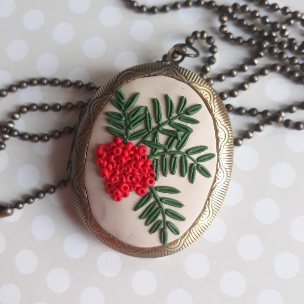 Vintage Inspired Berry Locket