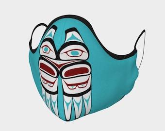 Northwest Formline Eagle Face Mask Native American Tlingit Art