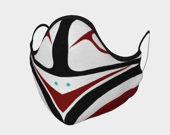The Warrior Face Mask Pacific Northwest Native Tlingit Art Formline Design