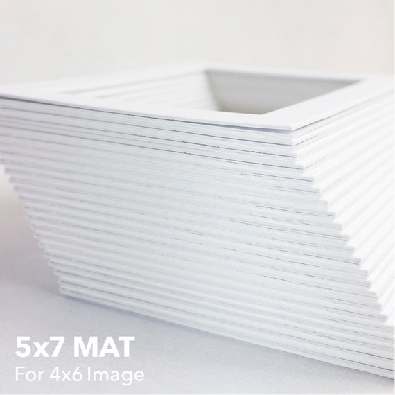 Classic White Mat Standard 5x7 Mat For 4x6 Artwork Bevel Etsy