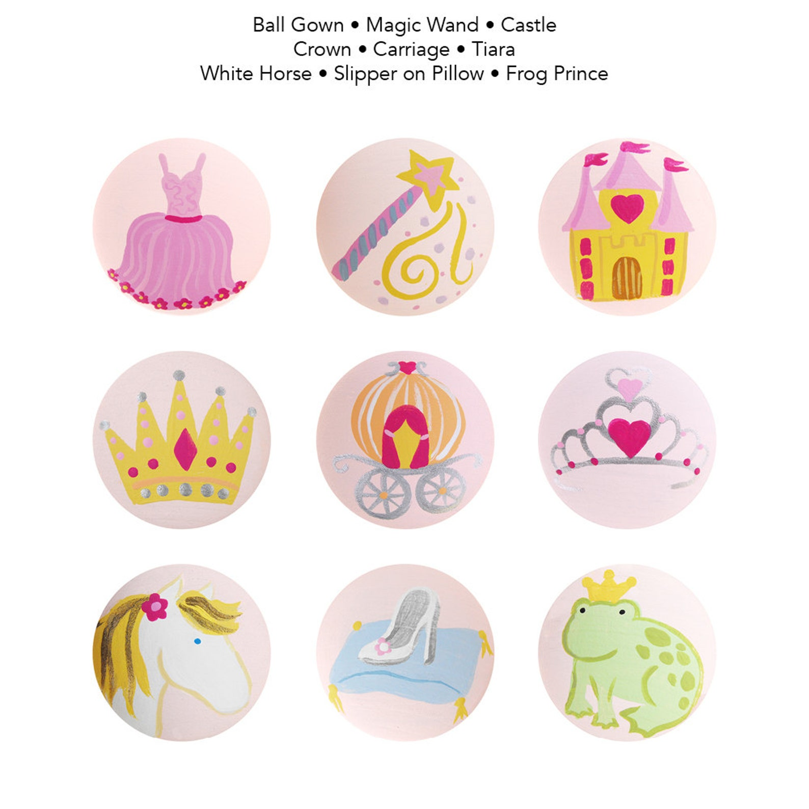 hand painted handle - children's custom ballerina ballet handles or drawer pulls for kids in any size
