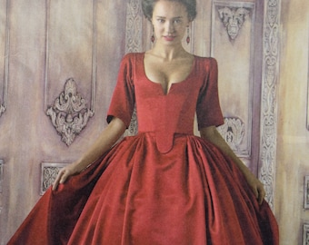 Sizes 6-14 Simplicity 8411 18th Century Gown and Panniers Womens Historical Costume Sewing Pattern