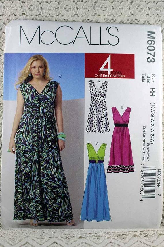 McCall 6073 Damen Kleid Schnittmuster leicht ärmelloses | Etsy