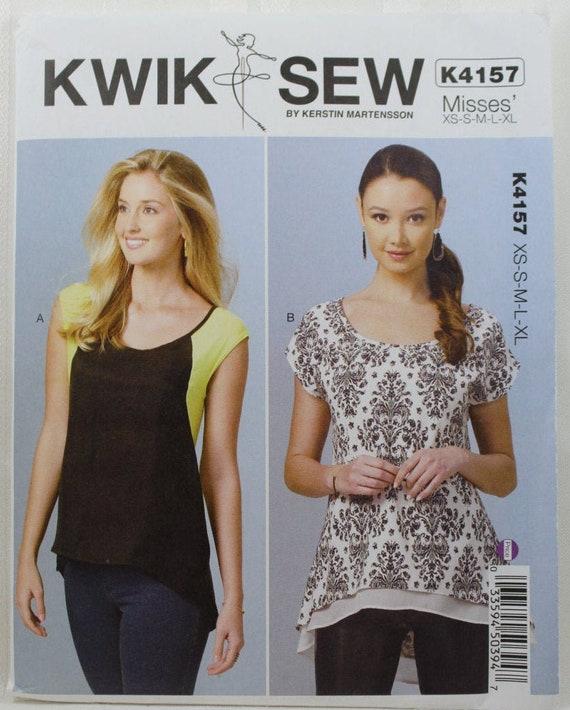 CHOICE NEW Kwik Sew Kwik /& Easy Kerstin Martensson Patterns Misses/' Tops Tunics