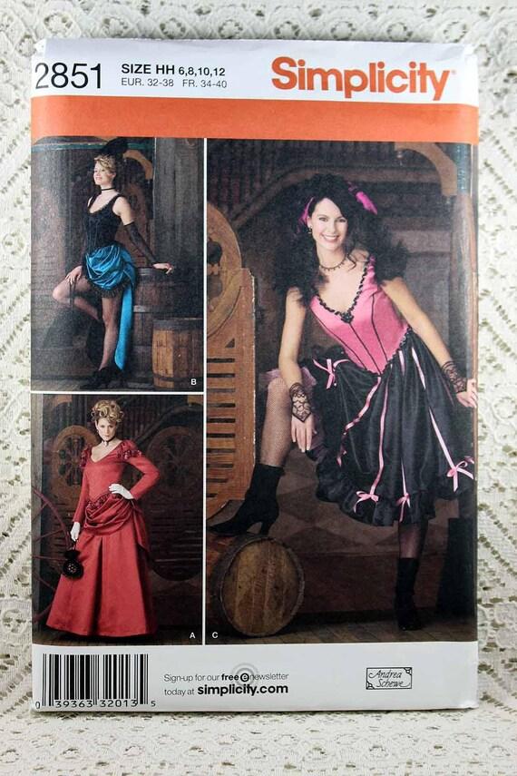 Einfachheit 2851 Kostüm-Schnittmuster Misses Wildwest Kostüm
