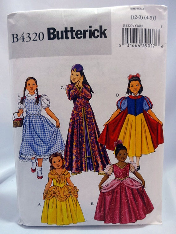 Butterick 4320 Mädchen-Kostüm-Schnittmuster Dorothy
