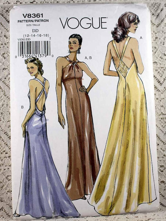 Vogue 8361 Misses\' Formal Evening Gown Sewing Pattern | Etsy