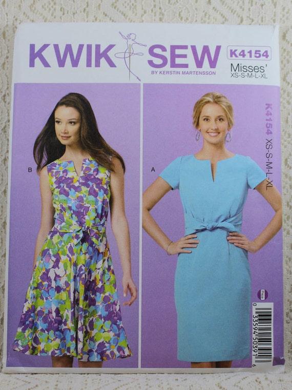 Kwik Nähen 4154 Misses Kleid Schnittmuster Misses Muster | Etsy