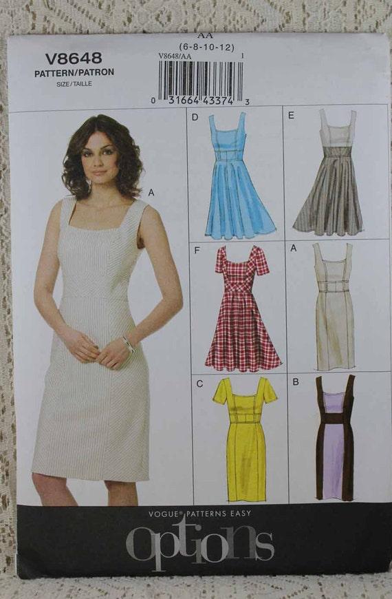 Vogue 8648 Misses Kleid Schnittmuster Schnittmuster   Etsy