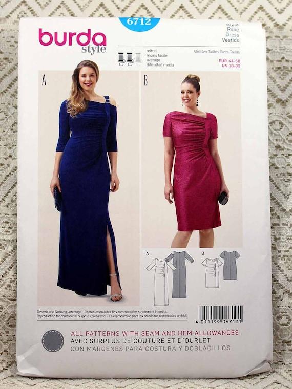 Burda 6712 Women\'s Dress Sewing Pattern Evening Gown | Etsy