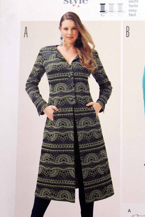 AUF Verkauf Burda 6715 Damen Mantel Schnittmuster leicht | Etsy