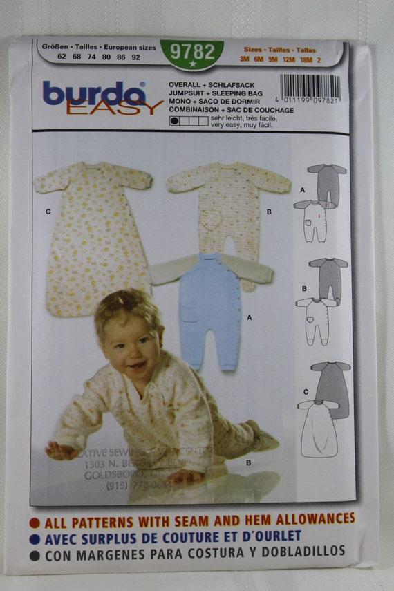 Burda 9782 Kinder-Overall und Schlafsack Schnittmuster Baby | Etsy