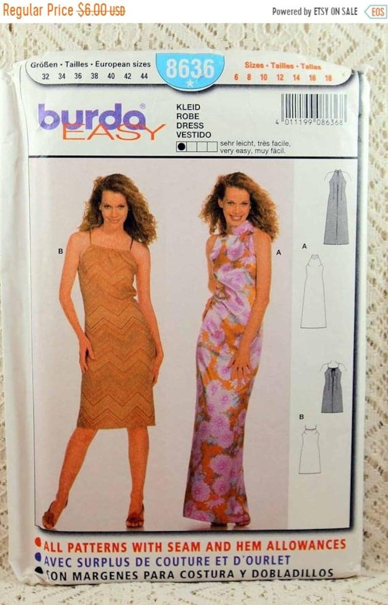 JULY SALE Burda 8636, Misses' Dress Sewing Pattern, Easy Dress Sewing  Pattern, Misses' Size 6 - 18, Pattern is Uncut