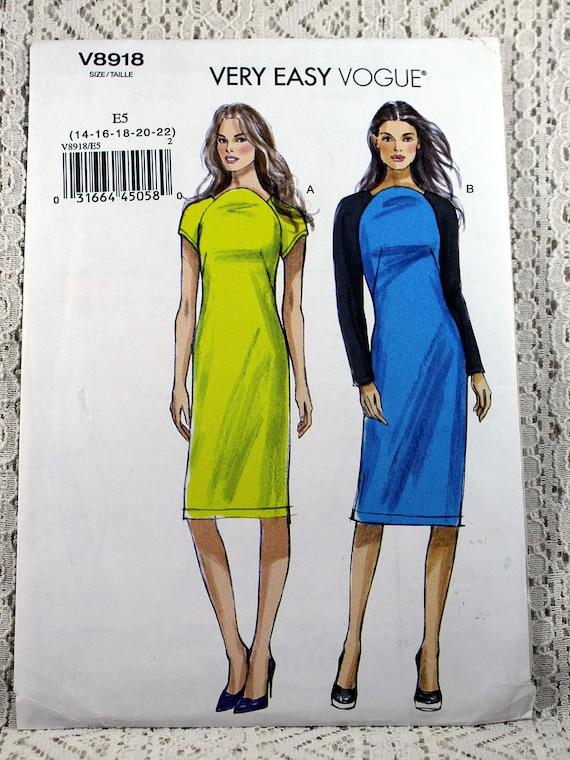 Vogue 8918 Misses Kleid Schnittmuster Pullover Kleid Muster | Etsy