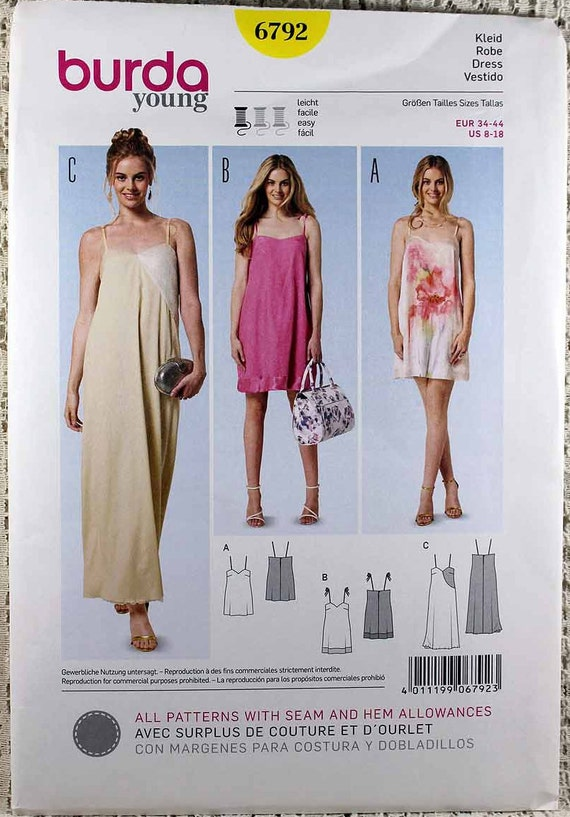 Burda 60 Misses' Easy Dress Sewing Pattern Misses' Etsy Delectable Easy Dress Sewing Patterns