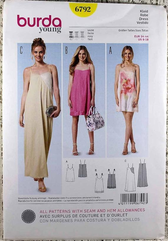 Burda 60 Misses' Easy Dress Sewing Pattern Misses' Etsy Delectable Easy Dress Sewing Patterns