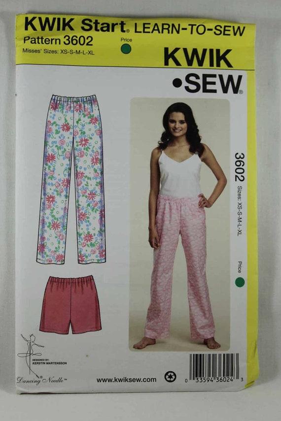 Kwik Sew 4072 Misses Pajamas Camisole Pants Nightgown Sewing Pattern Sz XS-XL