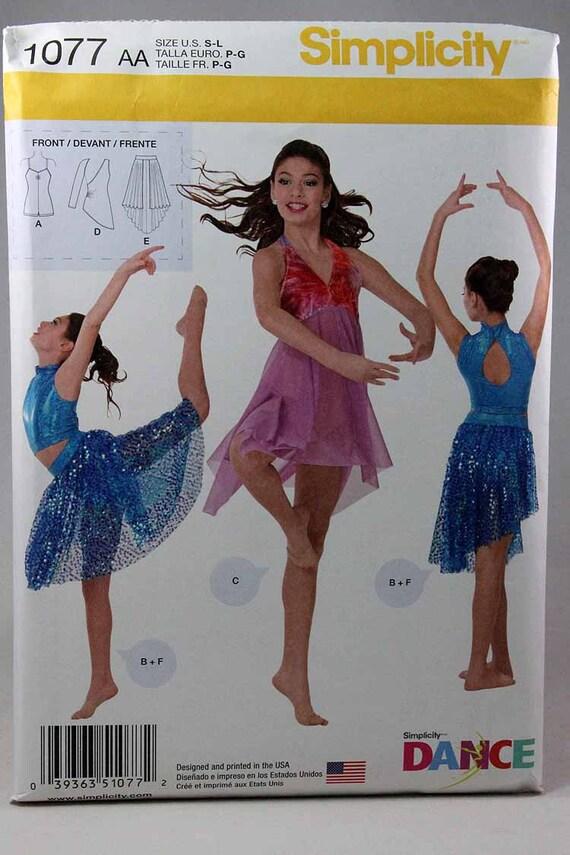 Einfachheit 1077 Girls\' Dance tragen Schnittmuster