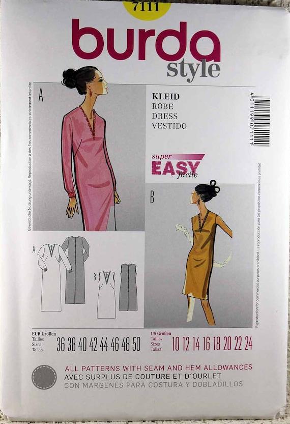 Burda 7111 Misses Kleid Schnittmuster Misses Größe 10-24 | Etsy