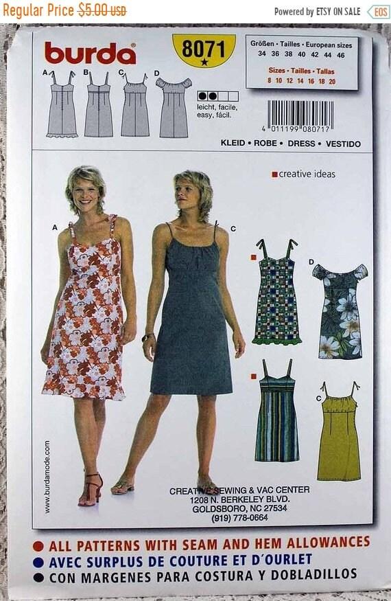 AUF Verkauf Burda 8071 Misses Kleid Schnittmuster Größe | Etsy