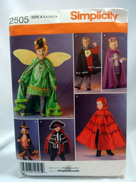 Einfachheit 2505 Kostüm-Schnittmuster Kinder Piraten Hexe   Etsy