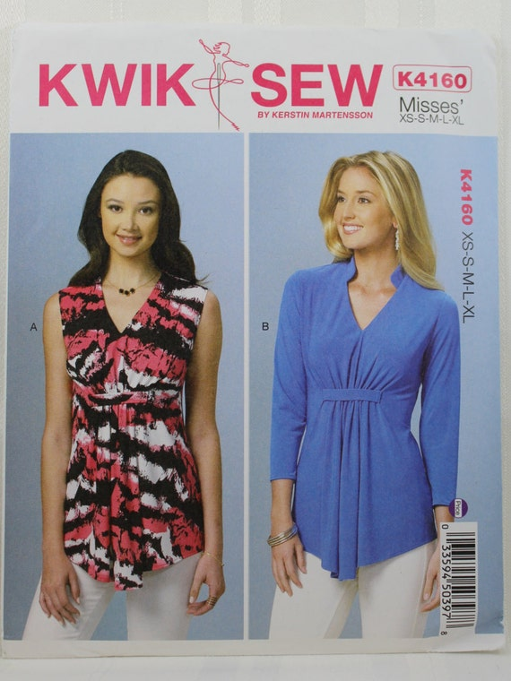 Kwik Sew 4160 Misses Tops Sewing Pattern Pullover Tops Etsy