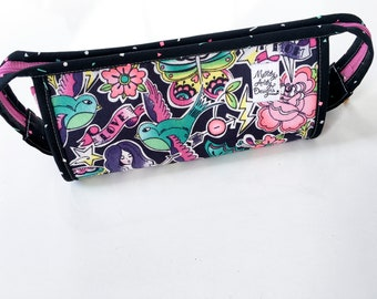 Mermaids Sprinkle Pink and Black Sew Together Bag, zipper pouch, project  bag,  makeup bag, toiletry bag, travel bag