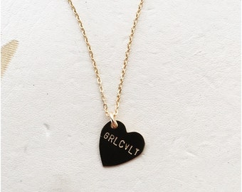 GRLCVLT Heart Charm Necklace