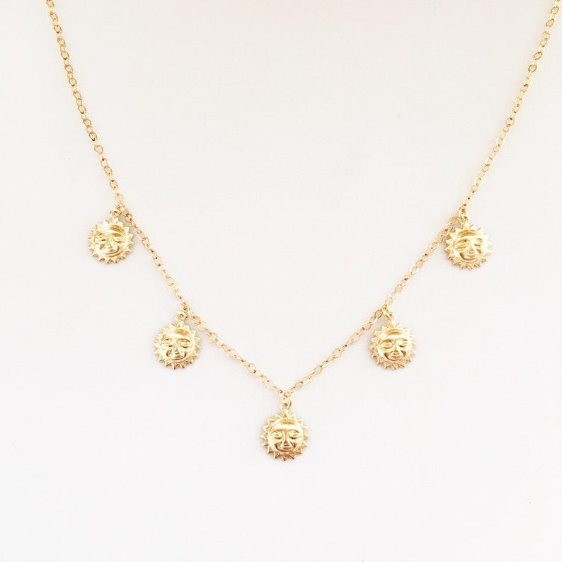 Sunshine Charm Necklace Gold image 0