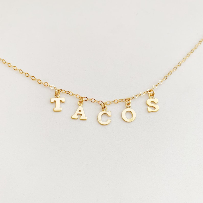 TACOS Charm Necklace image 0