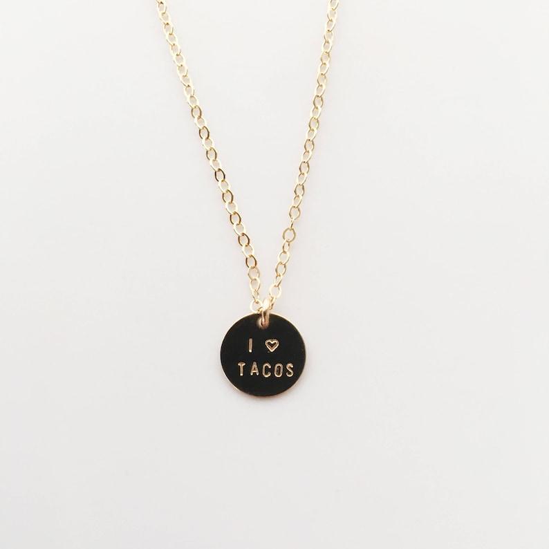 I HEART TACOS Charm Necklace image 0