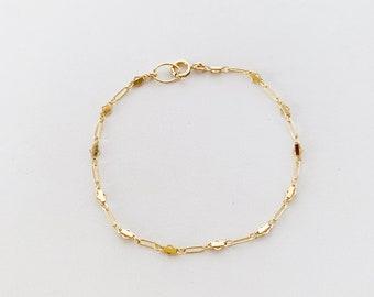 Layering Dainty Gold Bracelet