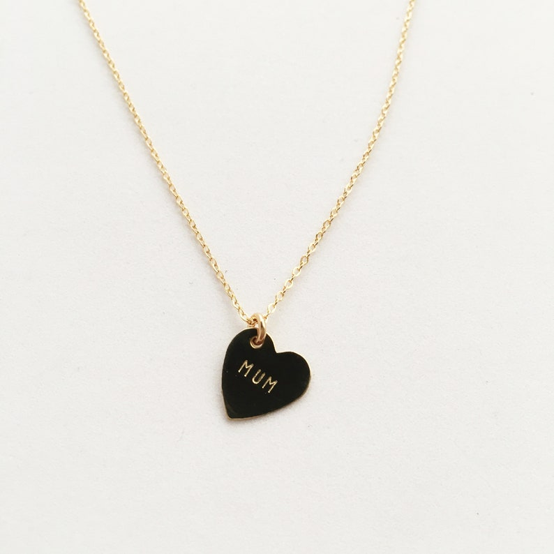 MUM Heart Charm Necklace  Mother's Day image 0
