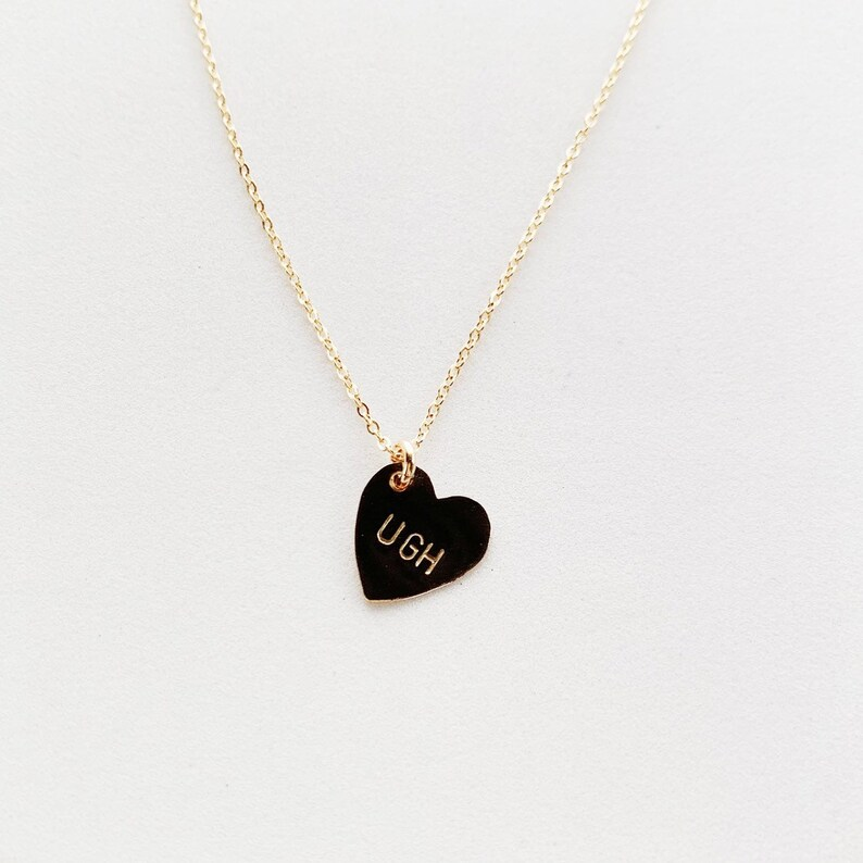 UGH Heart Charm Necklace image 0