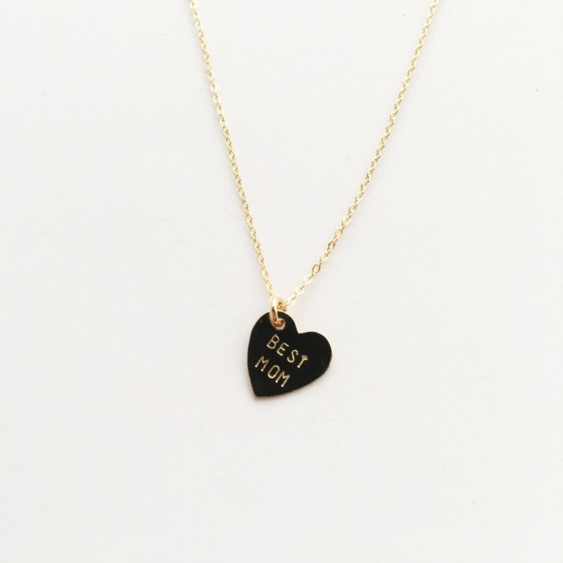 Mother's Day Necklace  BEST MOM HEART image 0