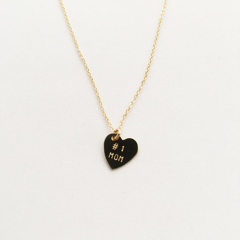 Mother's Day  1 MOM Heart Charm Necklace image 0