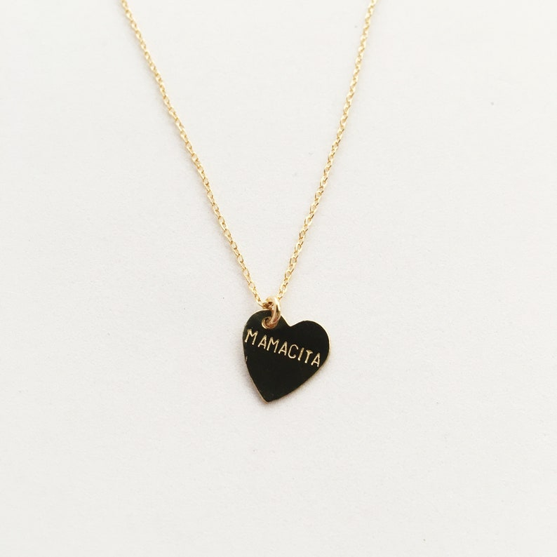MAMACITA Heart Charm Necklace  Mother's Day image 0