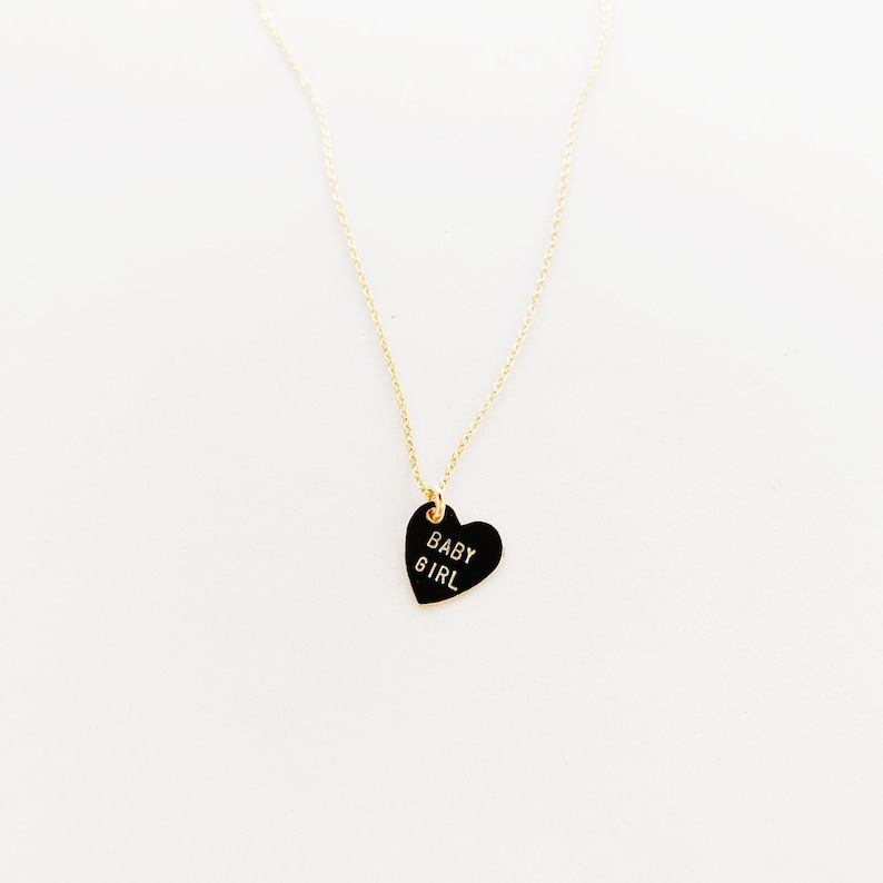 BABY GIRL Heart Charm Necklace image 0