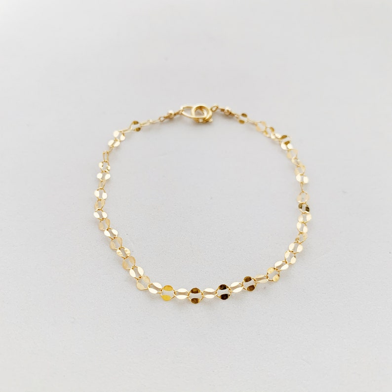 Dainty Gold Bracelet image 0