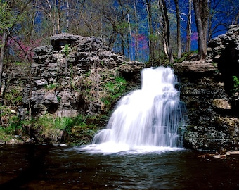 Four seasonal prints of France Park Falls, Cass County, Indiana