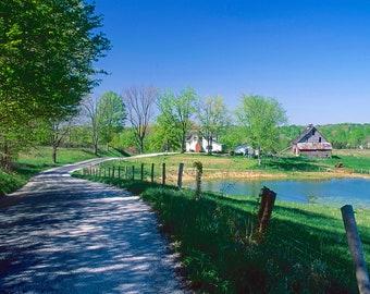 Four seasonal prints of rural scene near Pleasant Gardens, Indiana