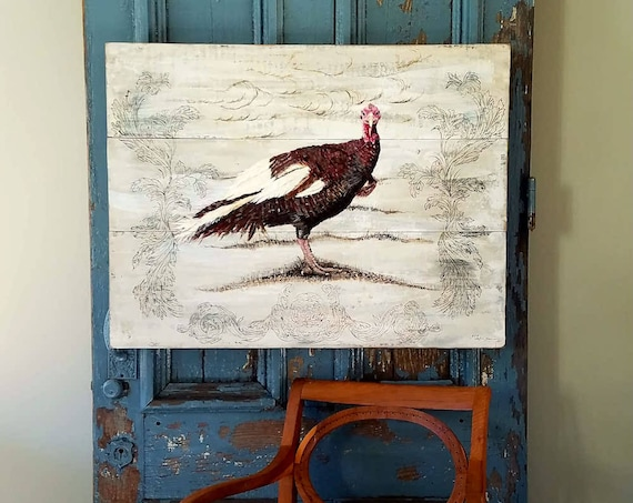 Heirloom Turkey acrylic on repurposed solid wood boards