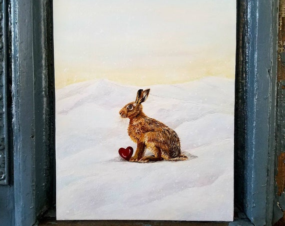 You Make My Heart Hop...A Original Acrylic painting