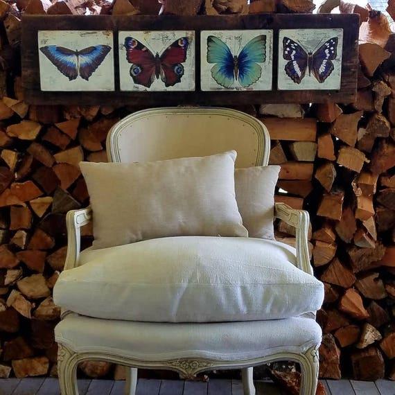 Butterflies originalacrylic painting on re purposed wood
