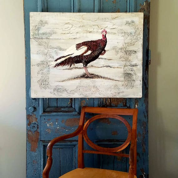 Heirloom Turkey acrylic on repurposed solid wood boards