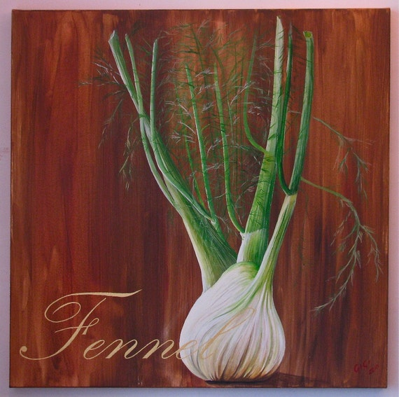 Fennel, Acrylic on canvas