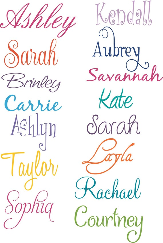 Girl Names Personalized Vinyl Wall Decal  Etsy-8664